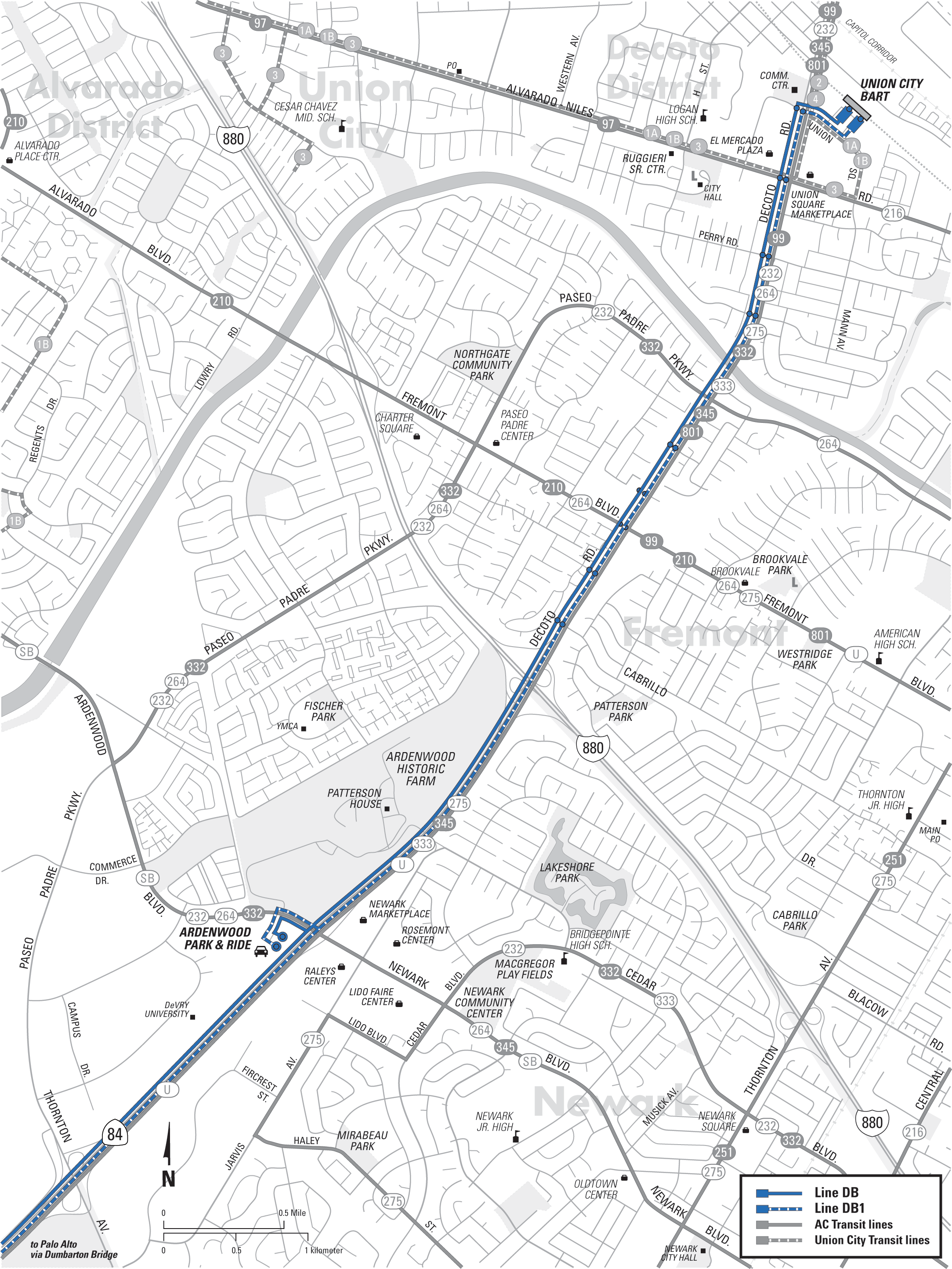 Route Map The Dumbarton Express